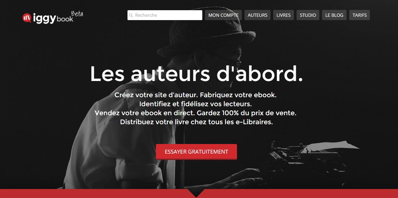 IggyBook - plateforme pour auteurs