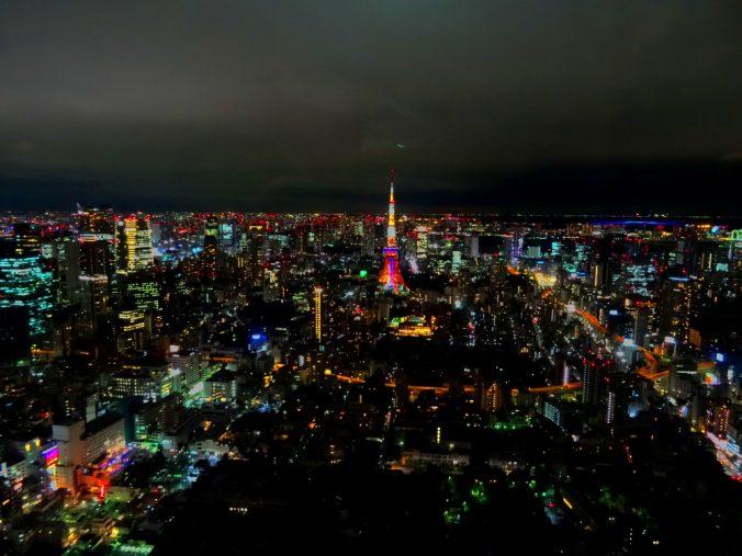 Vue sur Tokyo, de nuit
