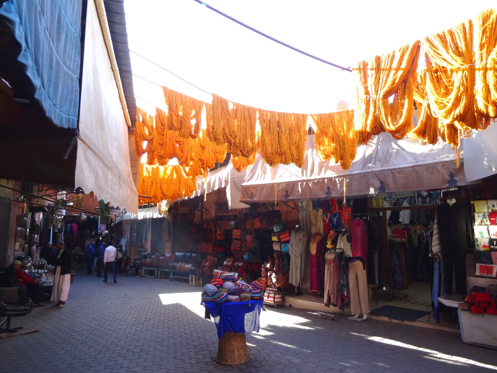 Quartier des teinturiers de Marrakech