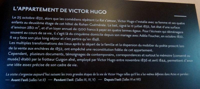 Entrée de l'appartement de Victor Hugo