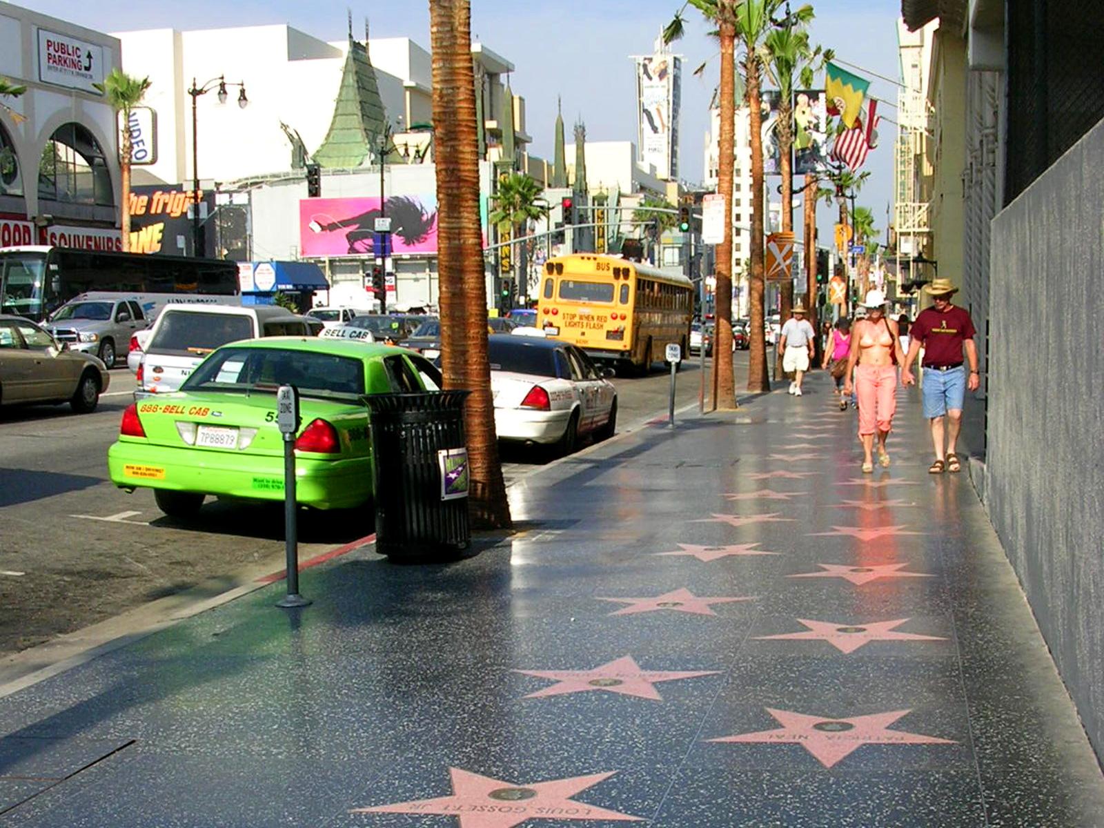 Le célèbre Walk of Fame d'Hollywood Boulevard,