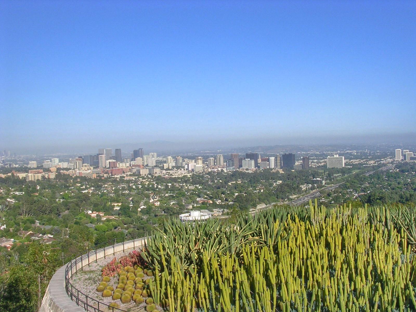 Vue sur Los Angeles depuis le Musée Getty