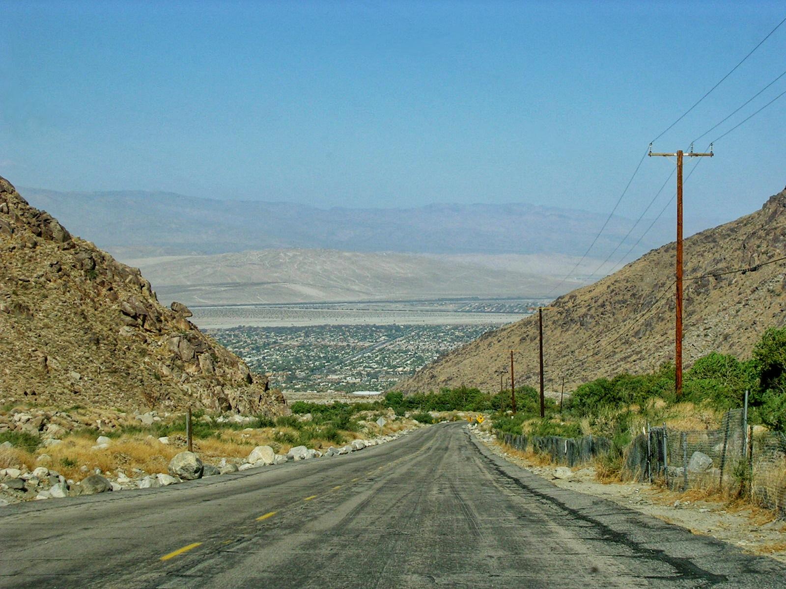 Vue sur Palm Springs