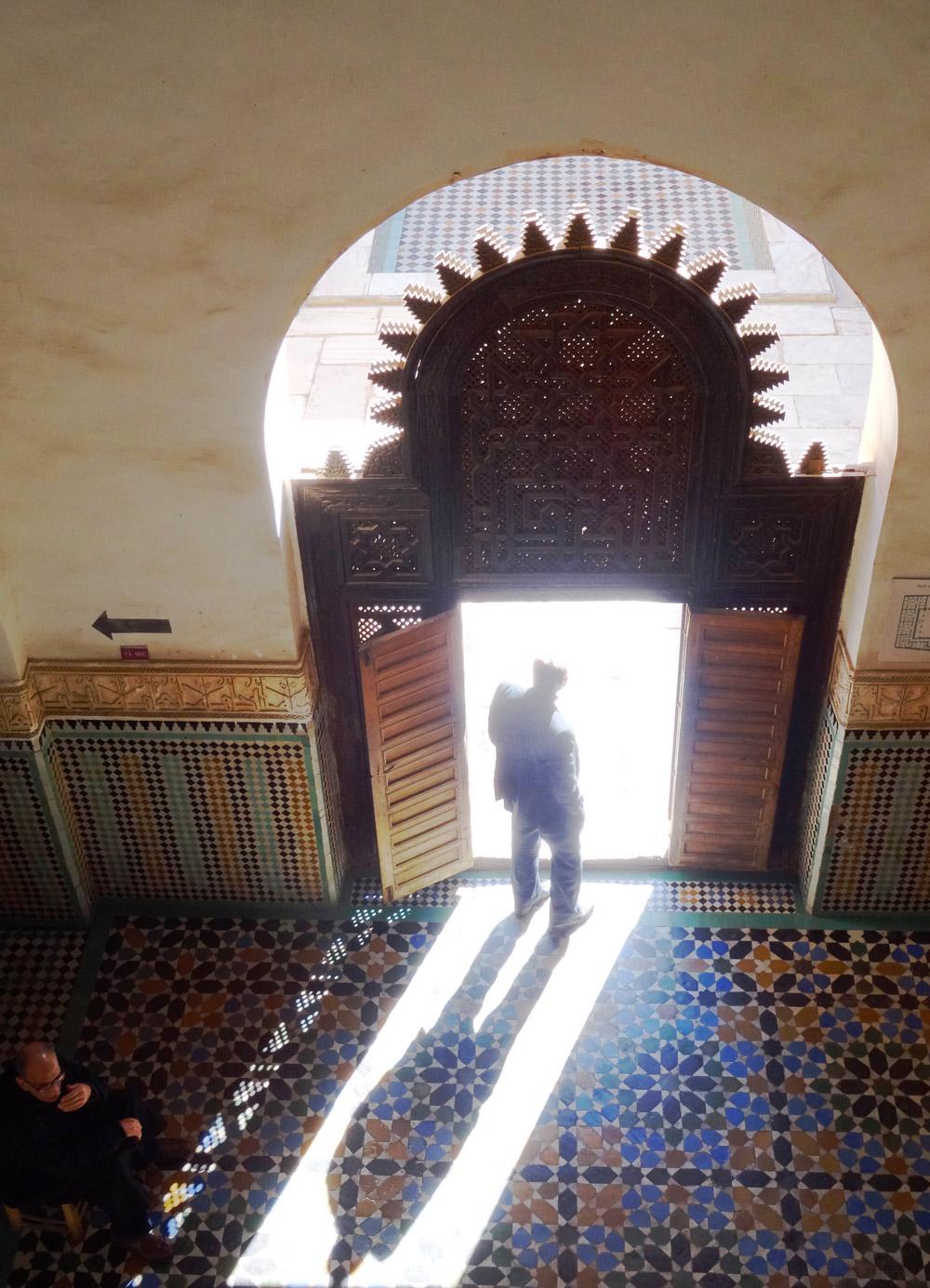Porte Marrakech ecole coranique Marrakech - credit marie Havard
