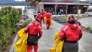 Excursion Baleine Tofino Ile de Vancouver - zodiaque