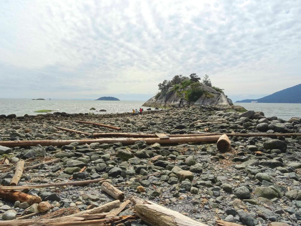 Plage de Whytecliff à Horseshoe Bay