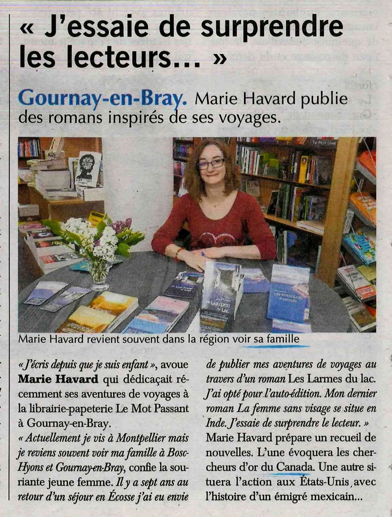 Article Marie Havard Paris Normandie mai 2017