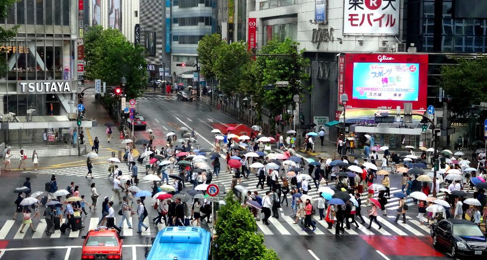 Carrefour de Shibuya, réputé pour être le plus grand du monde