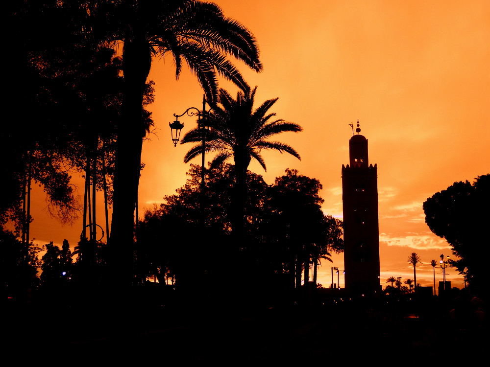 Koutoubia au soleil couchant Marrakech