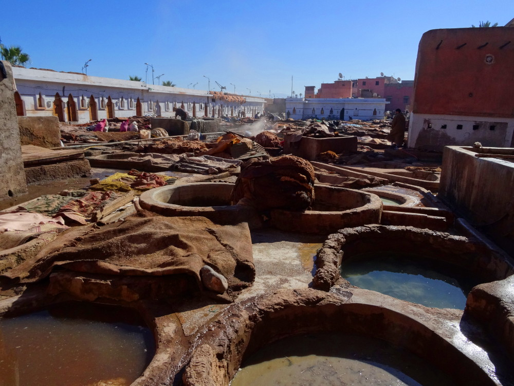 Tanneries de marrakech