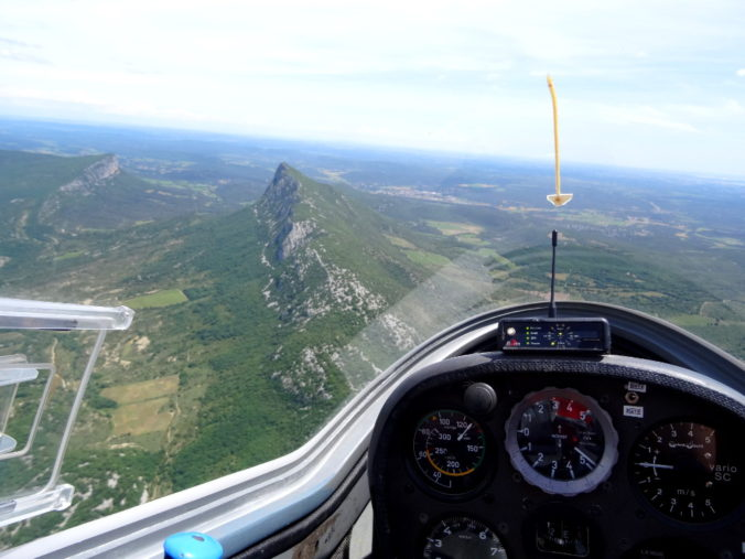 Vol planeur Pic Saint-Loup France