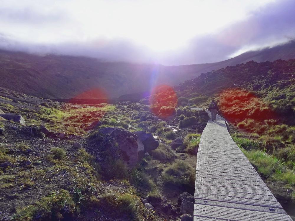 Tongariro Alpine Crossing : départ de la randonnée à Mangatepopo