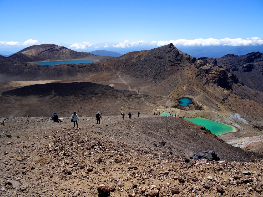 Tongariro Alpine Crossing : vue sur Emerald Lakes