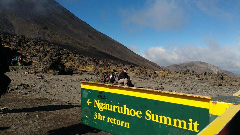 Tongariro Alpine Crossing : vue vers le Mont Ngauruhoe
