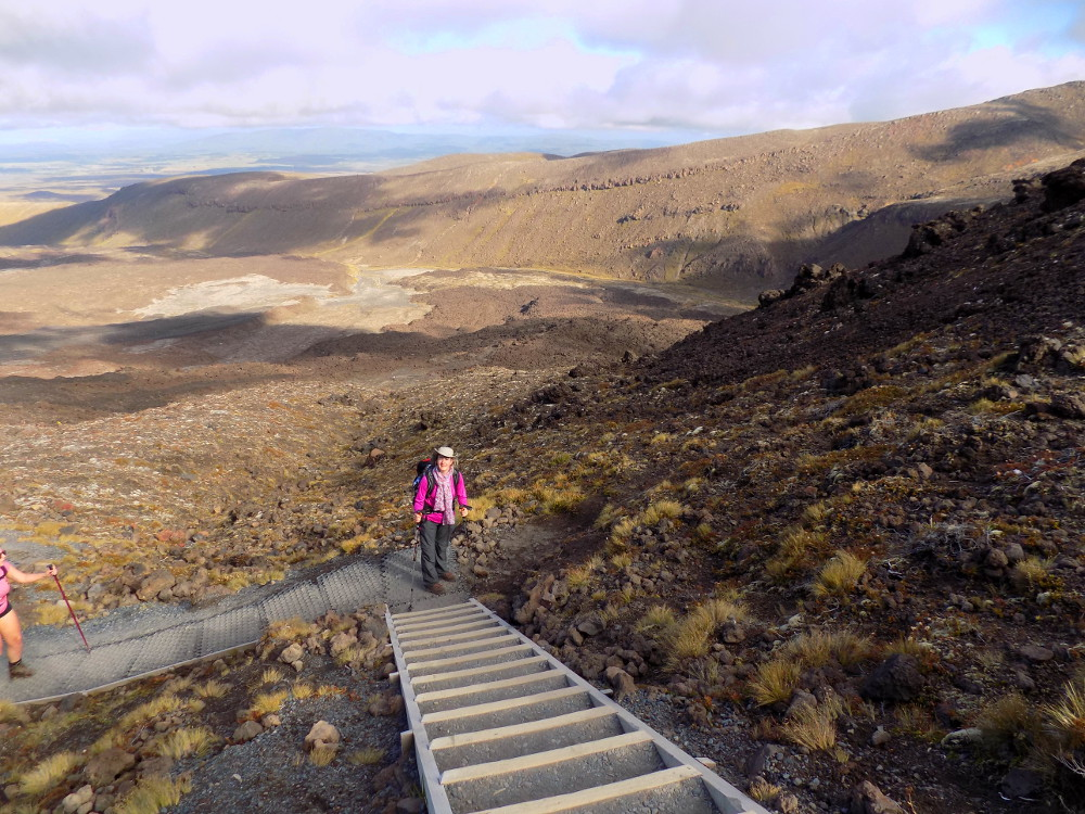 Tongariro Alpine Crossing : ascension du South Crater