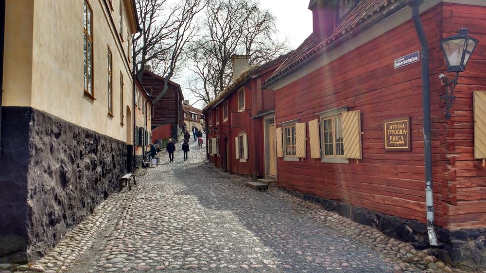 Skansen garden et quartier historique Stockholm, Suède