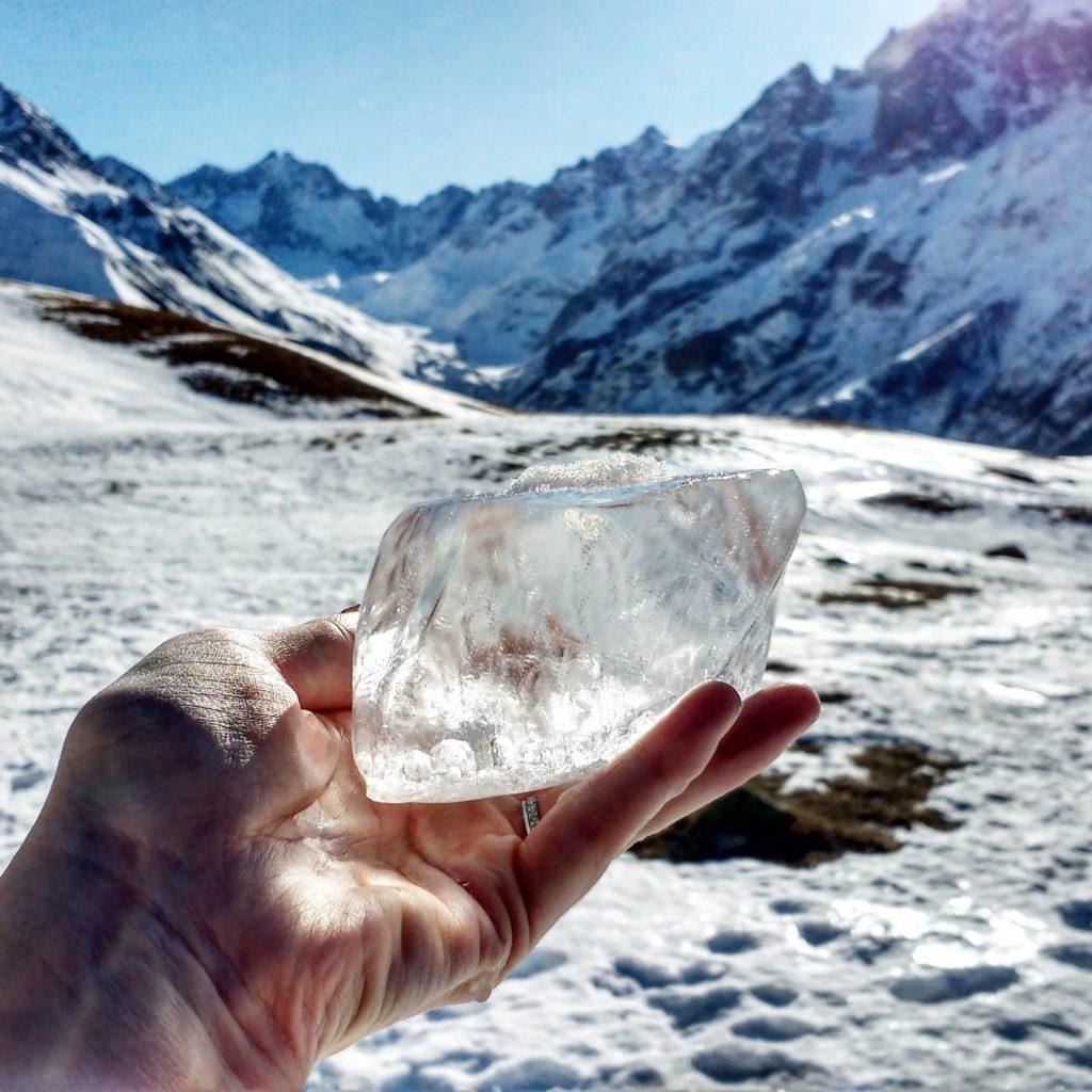 Lac du Pontet - bloc de glace