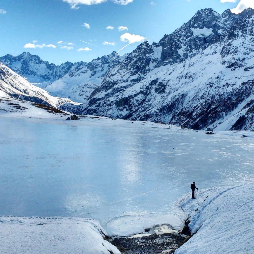 Lac du Pontet - lac gelé