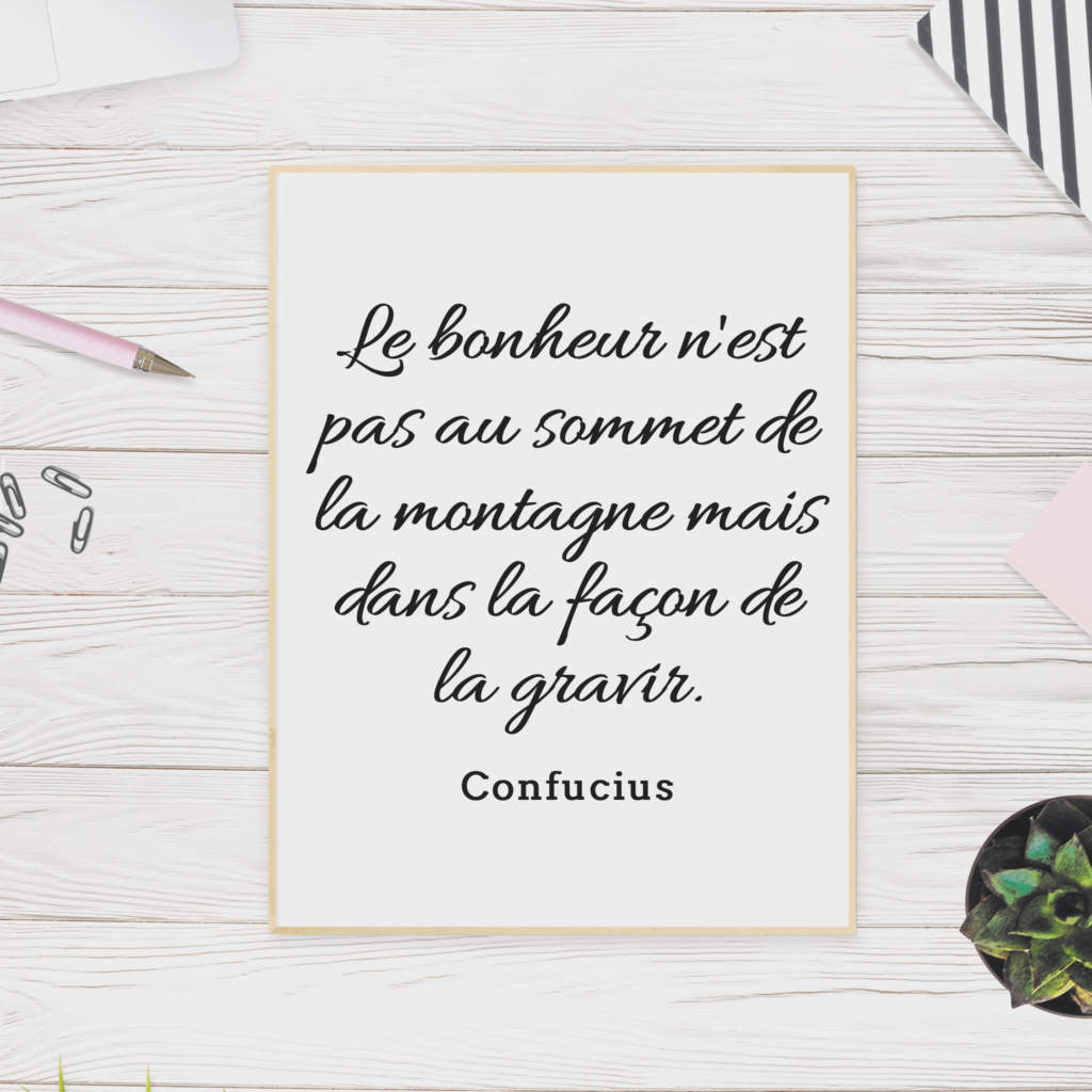 Citation montagne confucius