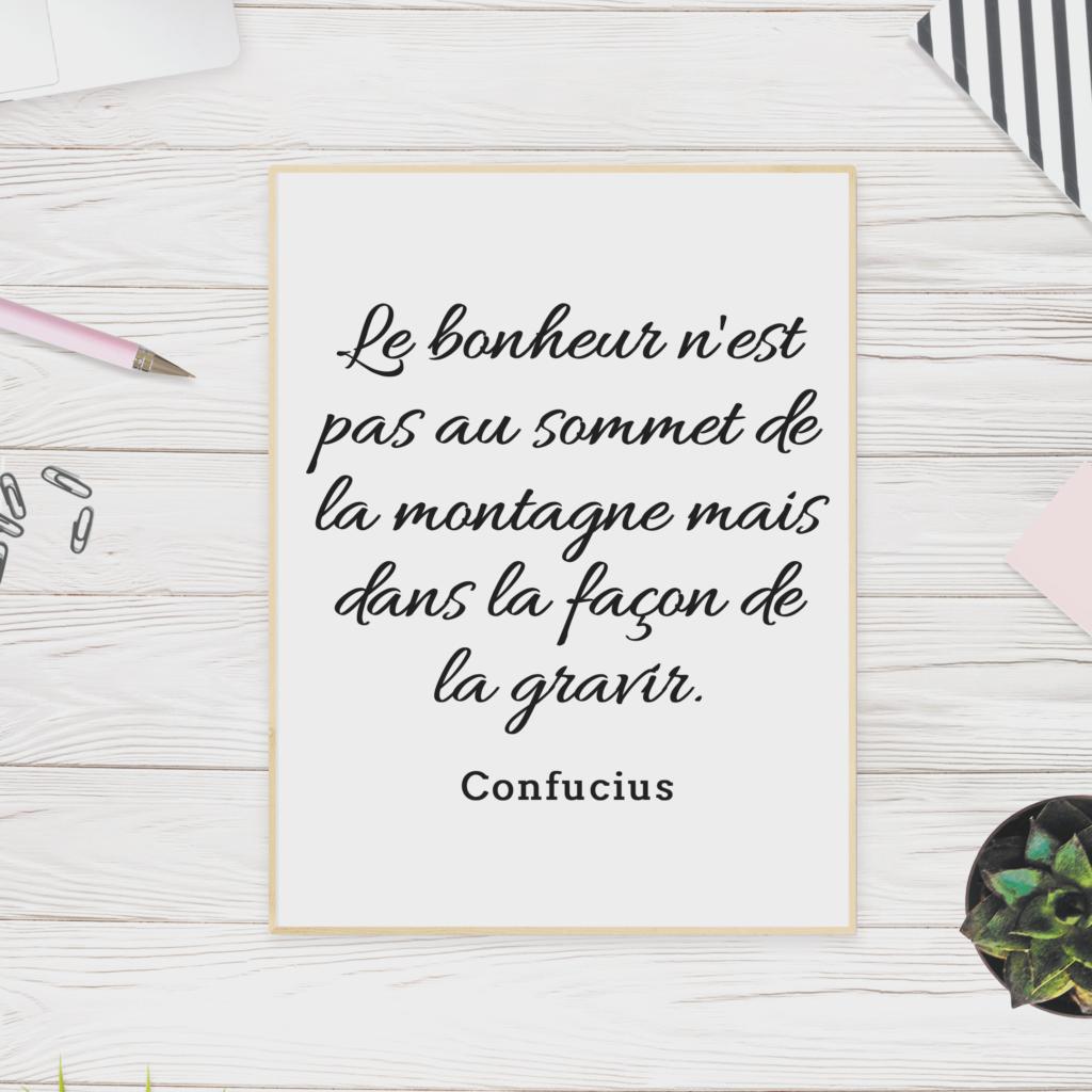 Citation montagne confucius