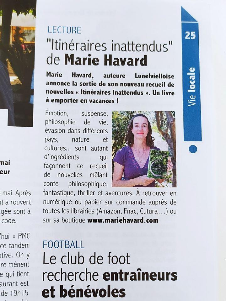 Article Marie Havard Lunel Viel Magazine