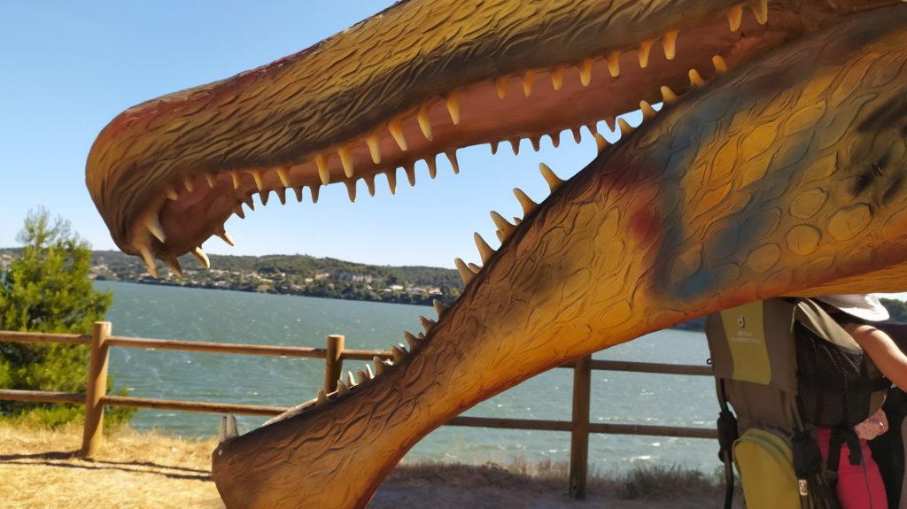 Vue du parc de dinosaures